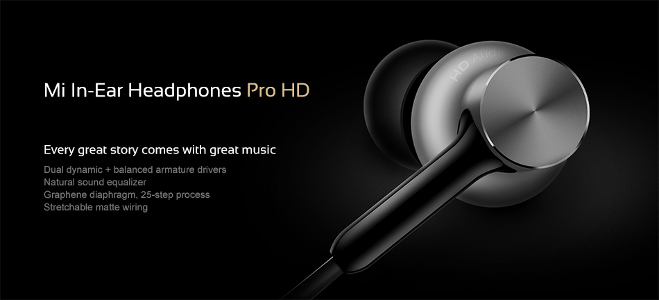 Wired Control Original Xiaomi Mi Headphones Pro HD 6