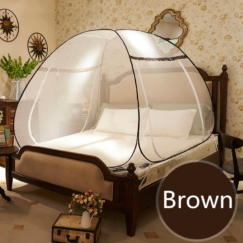 Round Lace Curtain Dome Mosquito Net For Double Bed