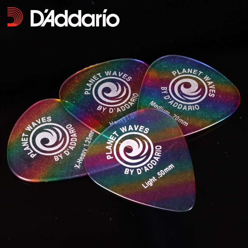 D'Addario Classic Celluloid Guitar Picks - Rainbow, Sell By 1 Piece