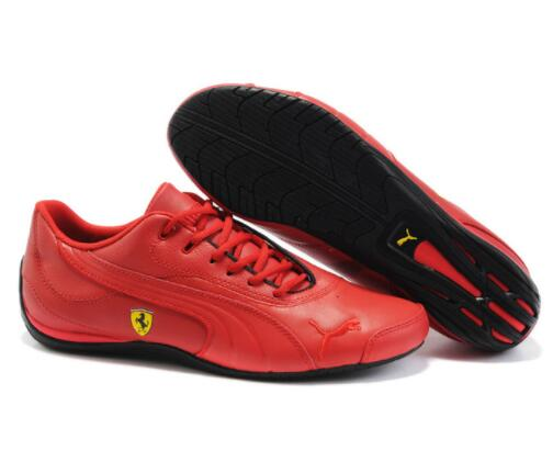 Puma Future Cat M2 SF Breathable Men's Leather Sneakers Shoes RedWhiteBlack Badminton Shoes Size 40 45