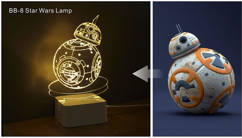 Star was Series Led 3D Night Light 5 light colors available  (2)