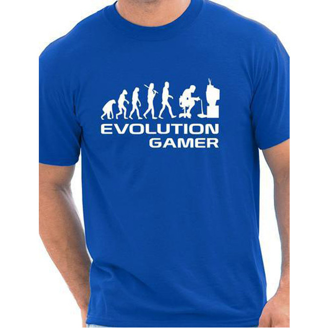 Evolution Of A Gamer PC Geek Gift Funny Mens T Shirt More Size and Colors cotton european size 2