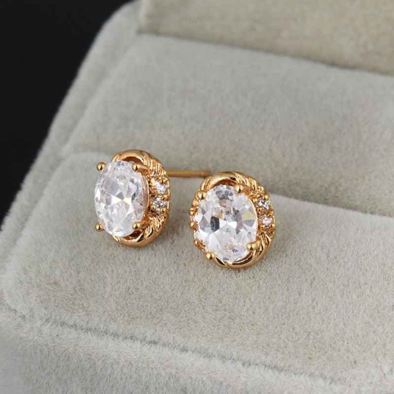 white embers and gold simple dot topaz jewellery stud earrings original by gemstone product