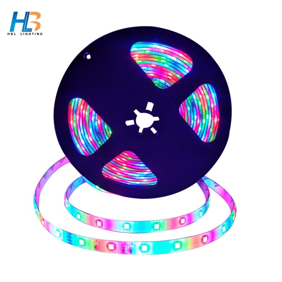 LED Strip Light DC 12V 5M 2835 non waterproof led tape LED Ribbon diode tape rgb led 3528 neon tape For home decoration