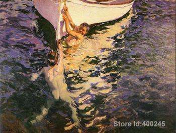 Arte de la pared el barco blanco de Joaquin Sorolla y Bastida decoración pinturas pintadas a mano de alta calidad