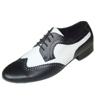 HXYOO Black Heel Height 2.5 cm Zapatos de baile Size US 4-12 Professional Ballroom Dance Shoes Men JYG460(China)