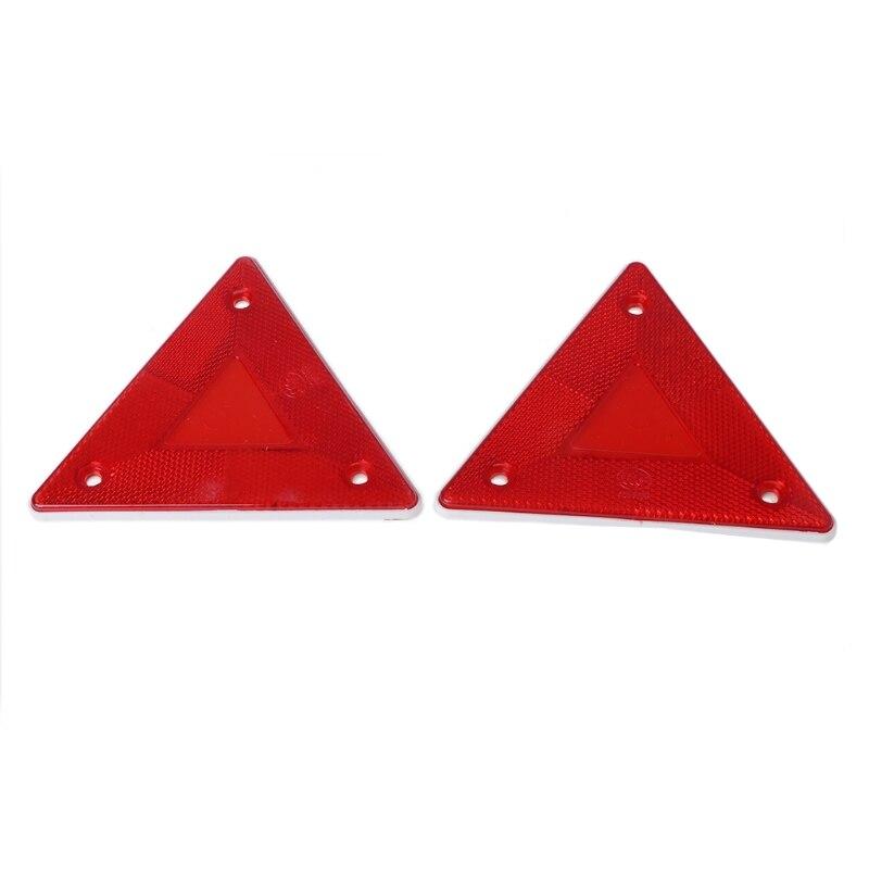 2 Pcs Triangle Warning Reflector Alerts Safety Plate Rear Light Trailer Fire Truck Car