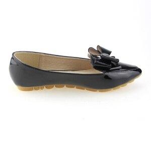 Image 2 - BEYARNE zapatos planos individuales de primavera para mujer, lazo informal, punta estrecha, boca poco profunda, de fábrica, EU 33 43