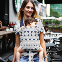 Baby Wrap Carrier Printed Baby Sling Carrier Soft & Breathable Wrap Hands Free Baby Carrier