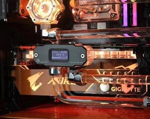Image 4 - BYKSKI OLED תצוגה דיגיטלית טמפרטורת מים מד להשתמש עבור GPU בלוק מתאם להוסיף ברדיאטור G1/4 מדחום חיישן הולם