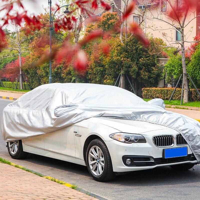 Coche impermeable espesar para VW Toyota coche sombrilla nieve protección a prueba de lluvia cubierta del coche