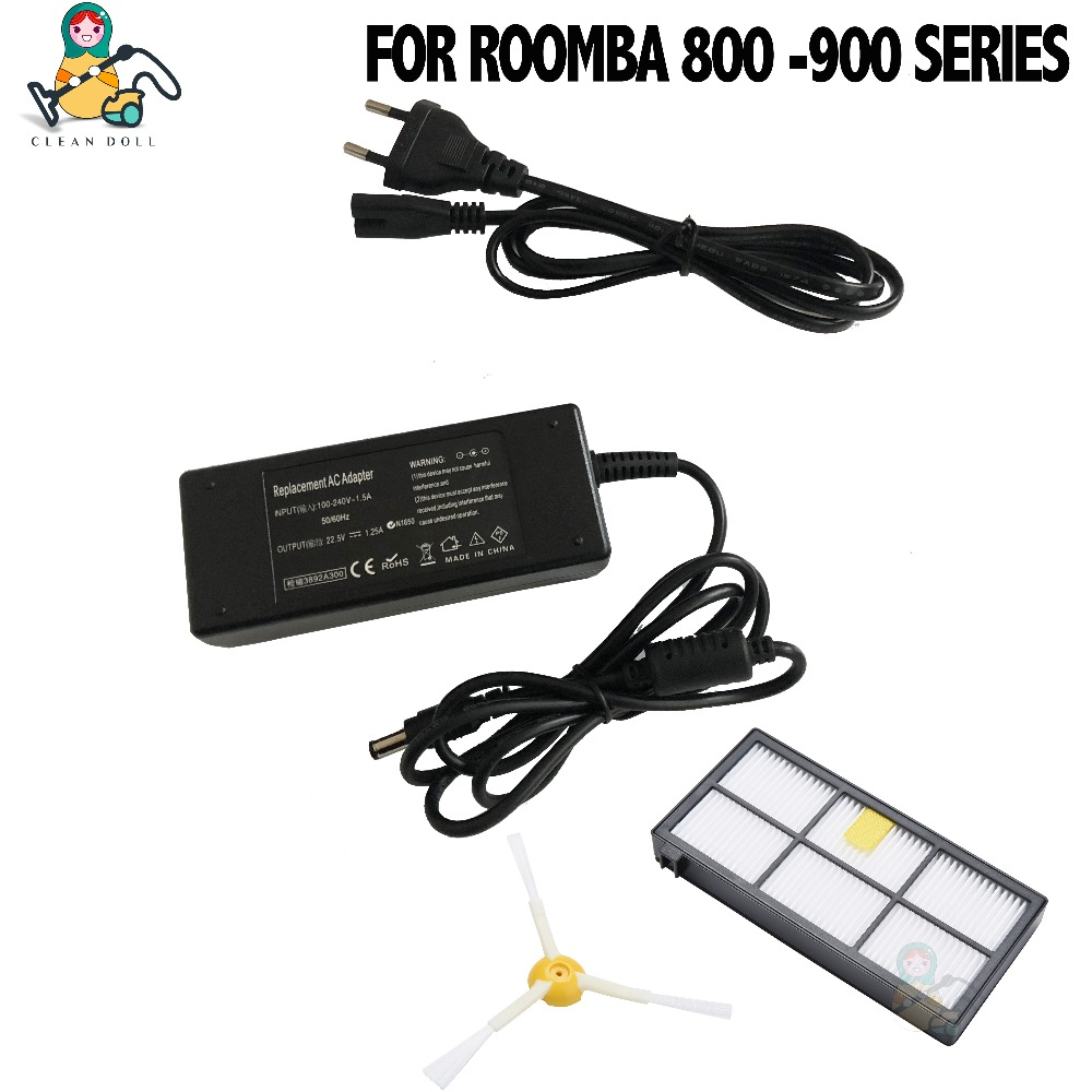 CLEAN DOLL Replacement power adapter charger for iRobot Roomba 880 870 860 980 960 805 800 900 power adapter charger irobot roomba 960 робот пылесос