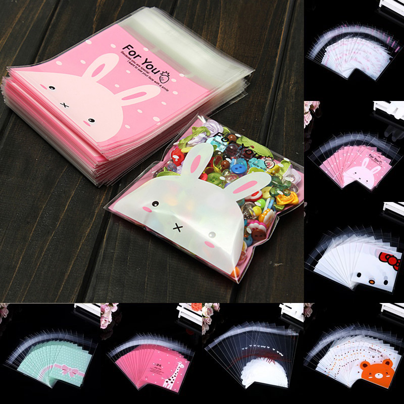 Sale 100pcs Wholesale Lace  Favor Cello Self-Adhesive Small OPP Bakery Handmade Bags Party Gift Bag