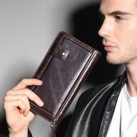VANLED 2017 Luxury Brand Men Wallets Long Men Purse Wallet Male Clutch Genuine Leather Wallet Men
