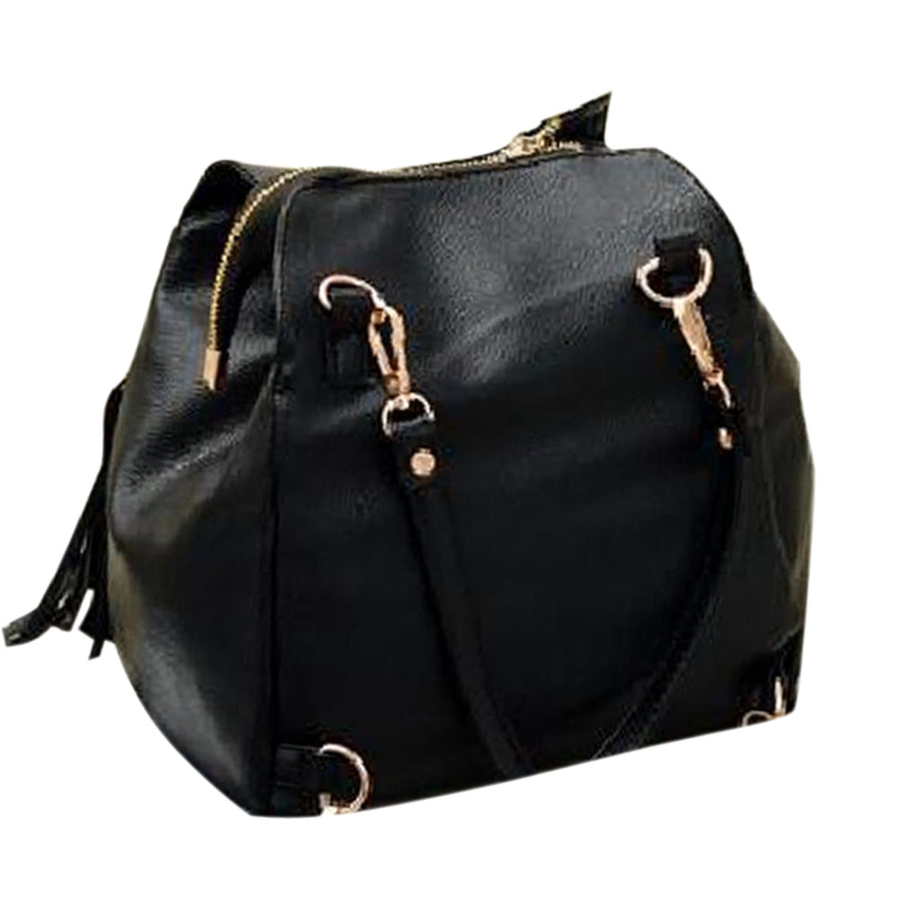 New Fashion Lady Cross Body BagTassel Shoulder Bag Women Soft Handbag Shopping