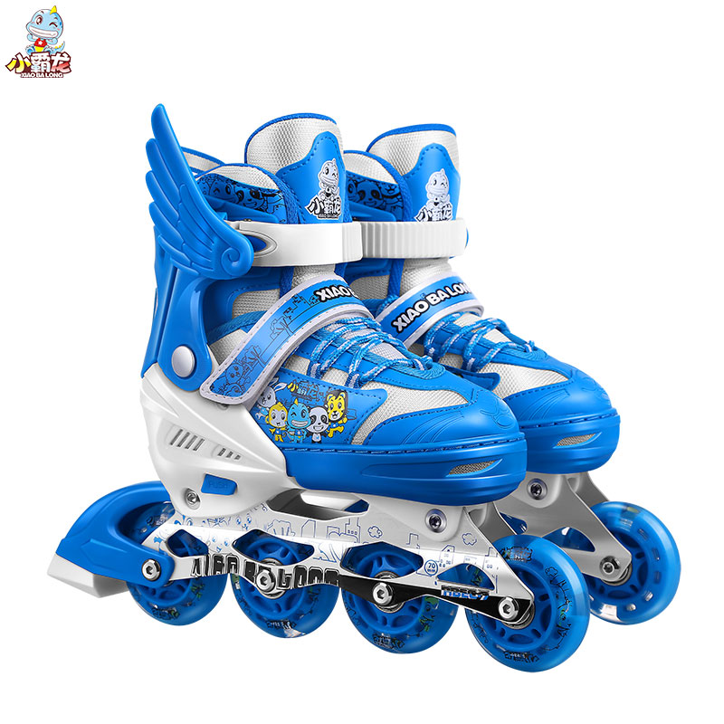 Skate-Shoes Wheels Roller-Skating-Size Adjustable Kids Children with Patines for 3-Colors