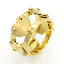 Luxury Famous Brand double pierced Love Rings for Female Rings Five Peach Heart Ring For Women Anillo Fine Jewelry