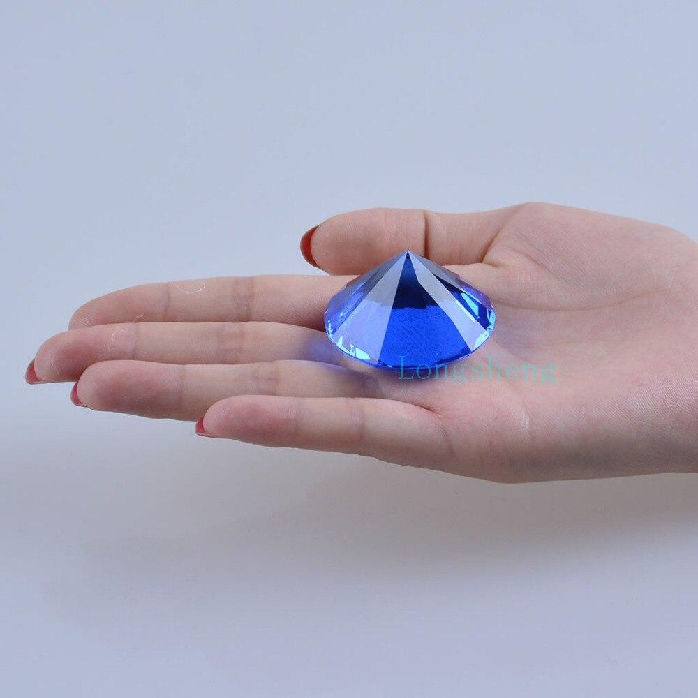 गृह सजावट शादी के गहने पार्टी सजावट थोक के लिए 40 मिमी ठोस क्रिस्टल नीले Centerpieces ग्लास डायमंड