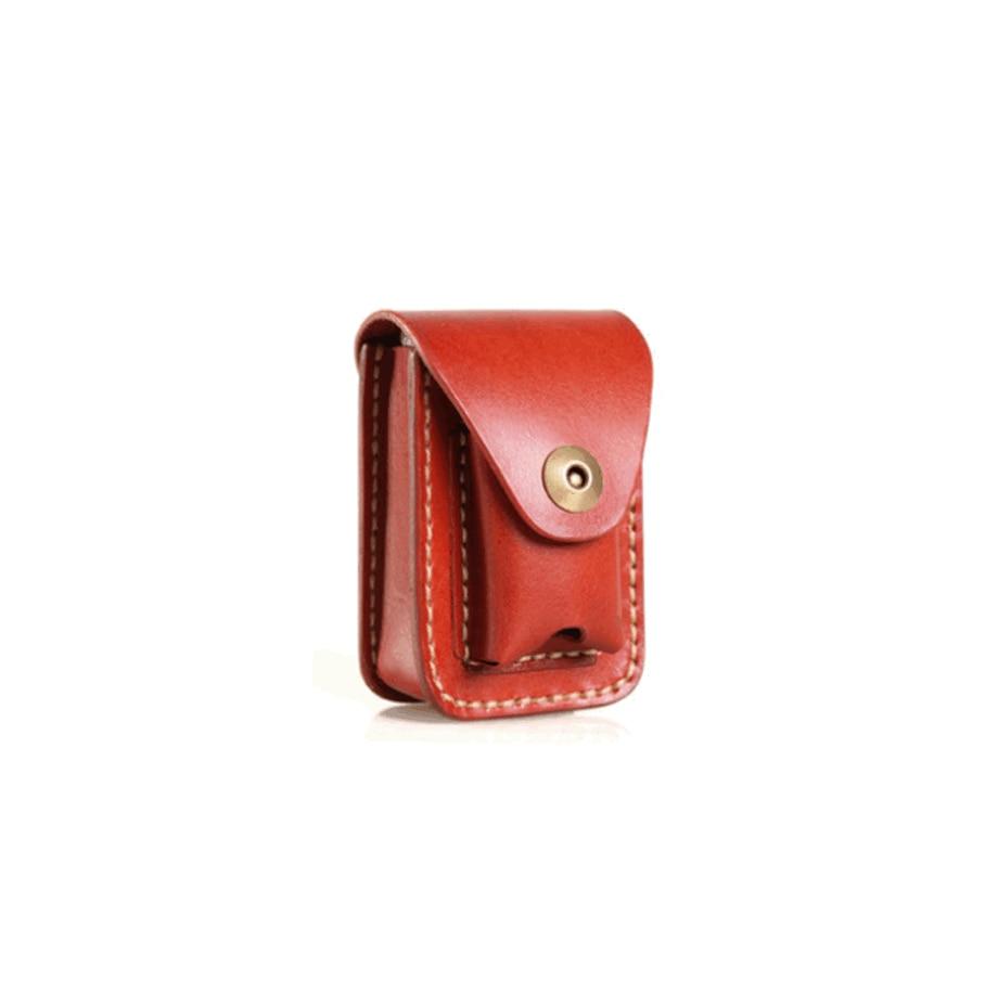 Original Retro Handmade Leather Vegetable Tanned Cigarette Case Lighter Bag New Fashion Men's Leather Cigarette Case LFB402
