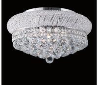 Free Shipping D360mm K9 Crystal Ceiling Lamp Chrome Ceiling Light Lighting Lamp Flush Mount Guaranteed 100% AC LED Light Fixture
