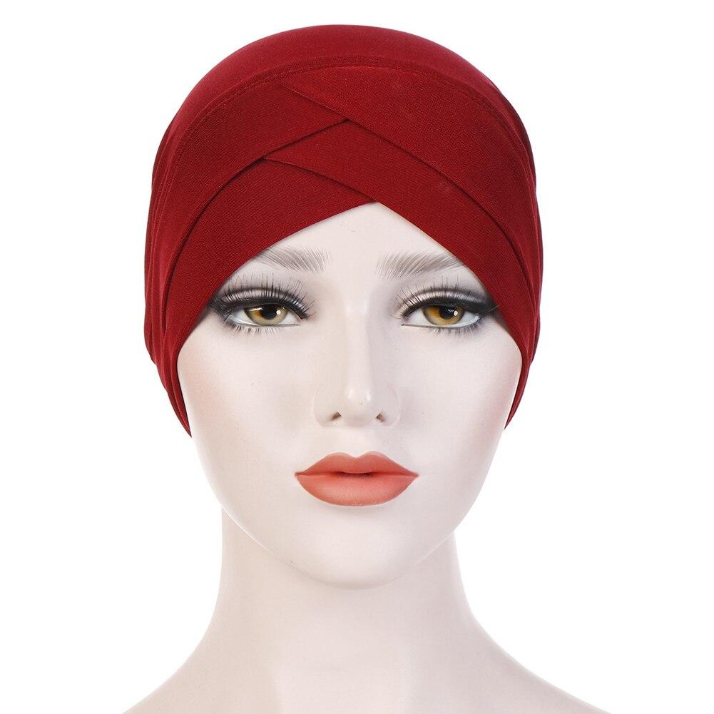 Женский хлопковый хиджаб, шарф, тюрбан, шапка, мусульманский головной платок, солнцезащитная Кепка, мусульманский Многофункциональный тюрбан, фуляр, femme musulman