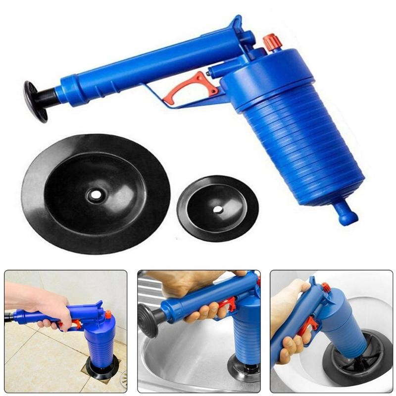 4 Suckers High Pressure Toilet Plunger Air Drain Blaster