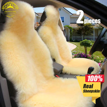 OKAYDA car seat cover soft Fur new universal Australia sheepskin free shipping warm Long wool Suitable for most cars