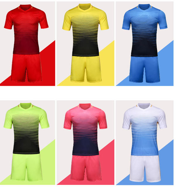 07b9993df9d soccer jerseys youth custom football jerseys Football jerseys 6 colors new  training soccer kits sports wear paintless football