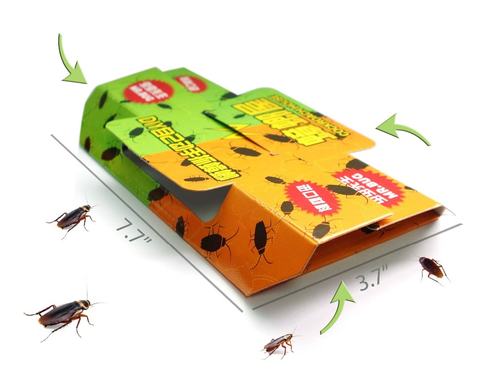 30 pcs Free Ship! Mr Bug Cockroaches & Pests killing trap, Pests control killer, Roaches Ants Spiders Pests kill trapper,