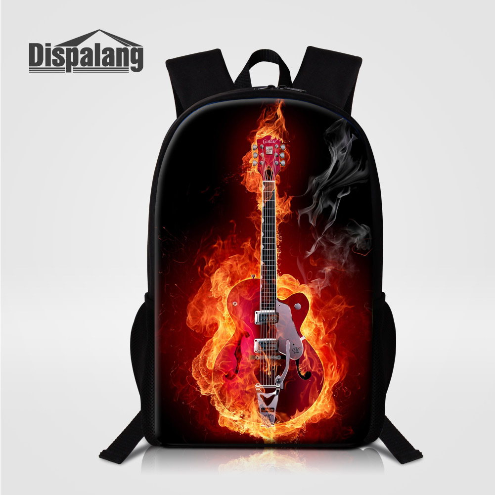 Dispalang Personalized Violin Design School Bags For Primary Students Cool Music Printed Backpack For Children Rucksack Bag Pack