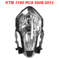 For 08 13 KTM KTM 1190 RC8 Motorcycle Front Headlight Head Light Lamp Headlamp Assembly CLEAR 2008 2009 2010 2011 2012 2013