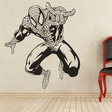 Free shipping diy wallpaper Spiderman Wall Decal Superhero Vinyl Sticker Decor Removable Waterproof