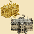 Piececool A Casa Branca P010-G P010-S Brinquedo DIY 3D Modelos de Corte A Laser 3D Puzzle Quebra-cabeças de Metal Kits de Brinquedos Para O Miúdo