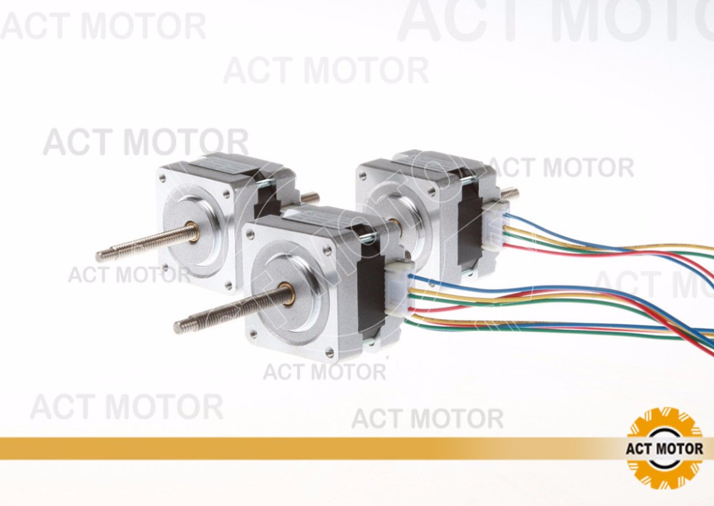 Shipping from China! ACT 3PCS Nema16 Linear Motor 16HSL3404 34mm 0.21N.m 100mm Stoke Length CE ISO RoHs Factory Sale