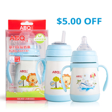 240ML Baby Bottle Feeding Bottles Insulation Stainless Steel Insulated Bottle For Feeding Baby Drinker Cup Drinker With A Straw