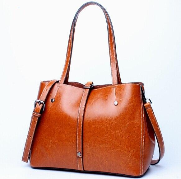 Модные Новый дизайн натуральная кожа женские популярные сумки старинные большая емкость сумка просто женская сумка sanyu8965