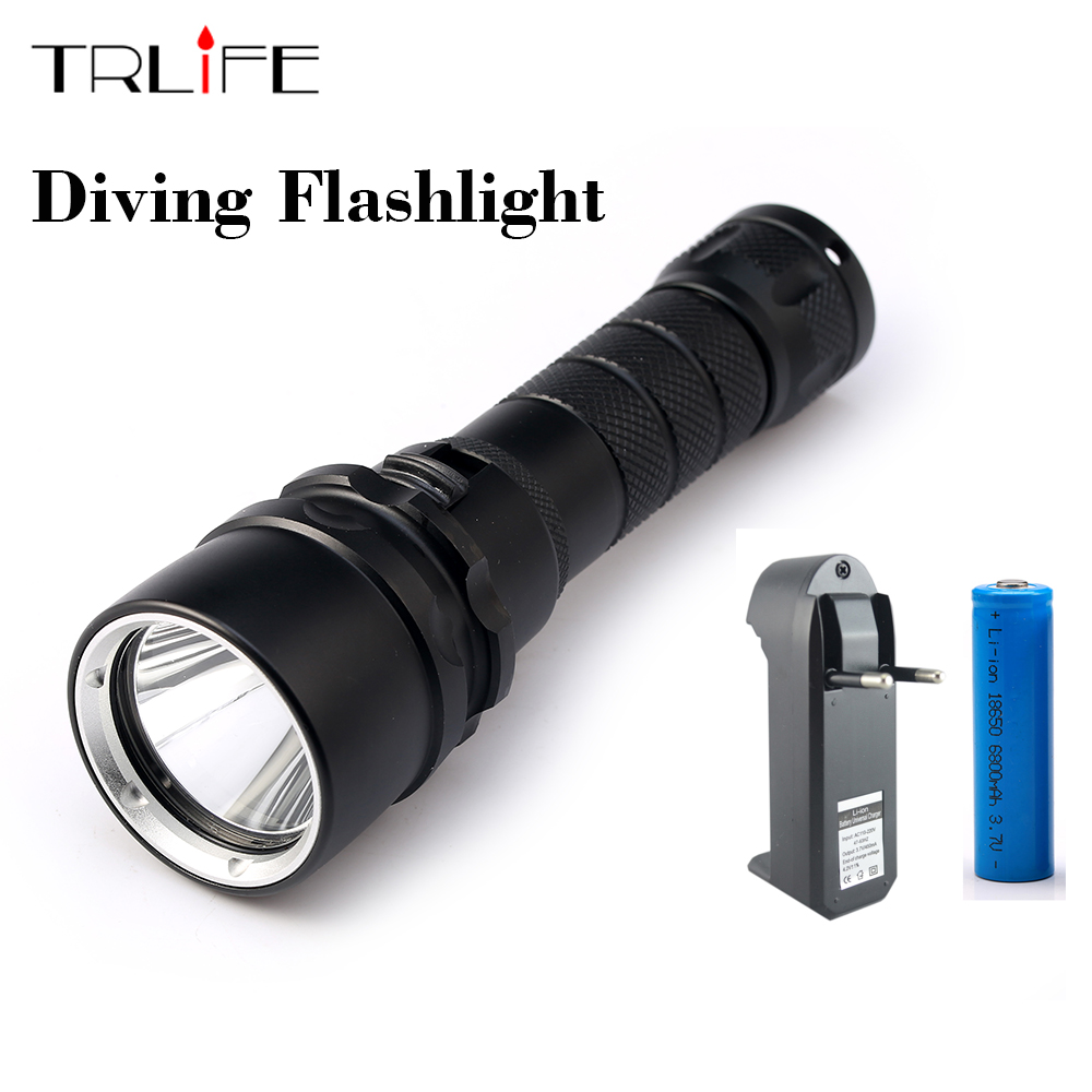L2 LED 3800 Lumen 100 meters Underwater Diving diver 18650 Flashlight Torch Light Lamp Waterproof l2 led 3800 lumen 100 meters underwater diving diver 18650 flashlight torch light lamp waterproof