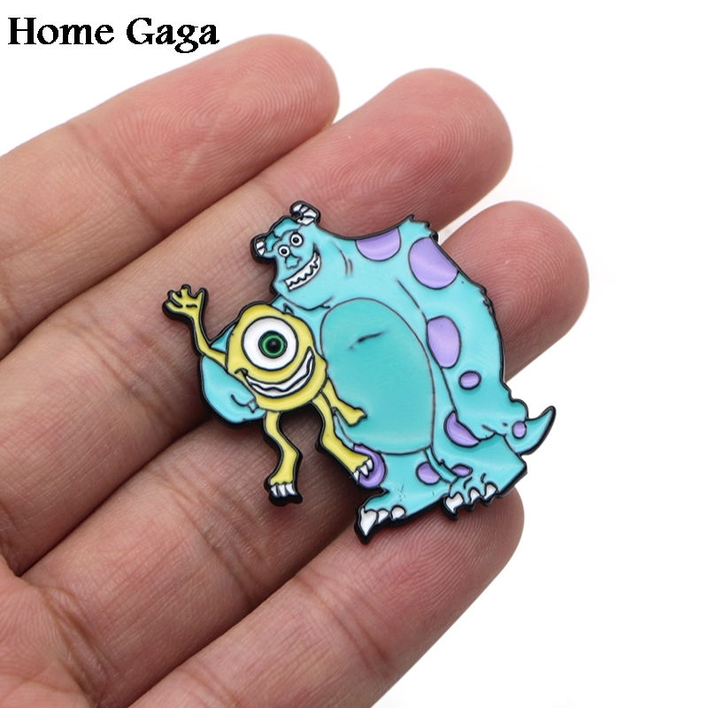 Apparel Sewing & Fabric Original 10pcs/lot Homegaga Monsters University Zinc Cartoon Funny Pins Backpack Clothes Brooches For Men Women Hat Badges Medals D1598 Cheap Sales 50% Badges