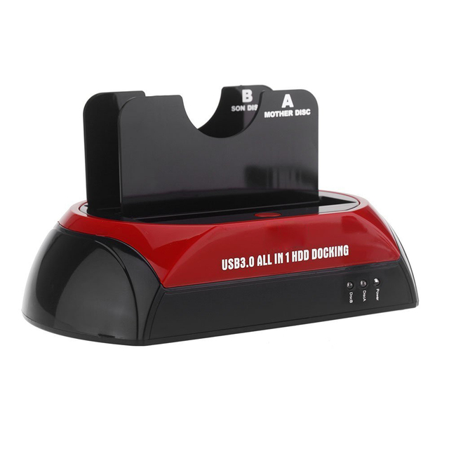 CAA-Todo en 1 HDD Docking Dual Doble 2.5 ''/3.5'' SATA USB 3.0 USB Dock Station 3.0/2.0 Enchufe de EE.UU.