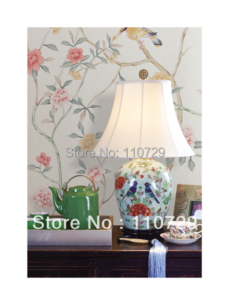 Customized europe Hand painted silk wallpaper painting flowers with birds hand-painted wall paper many arts/backgrouds optonal iarts aha072962 hand painted thick texture of knife painting trees oil painting red 60 x 40cm