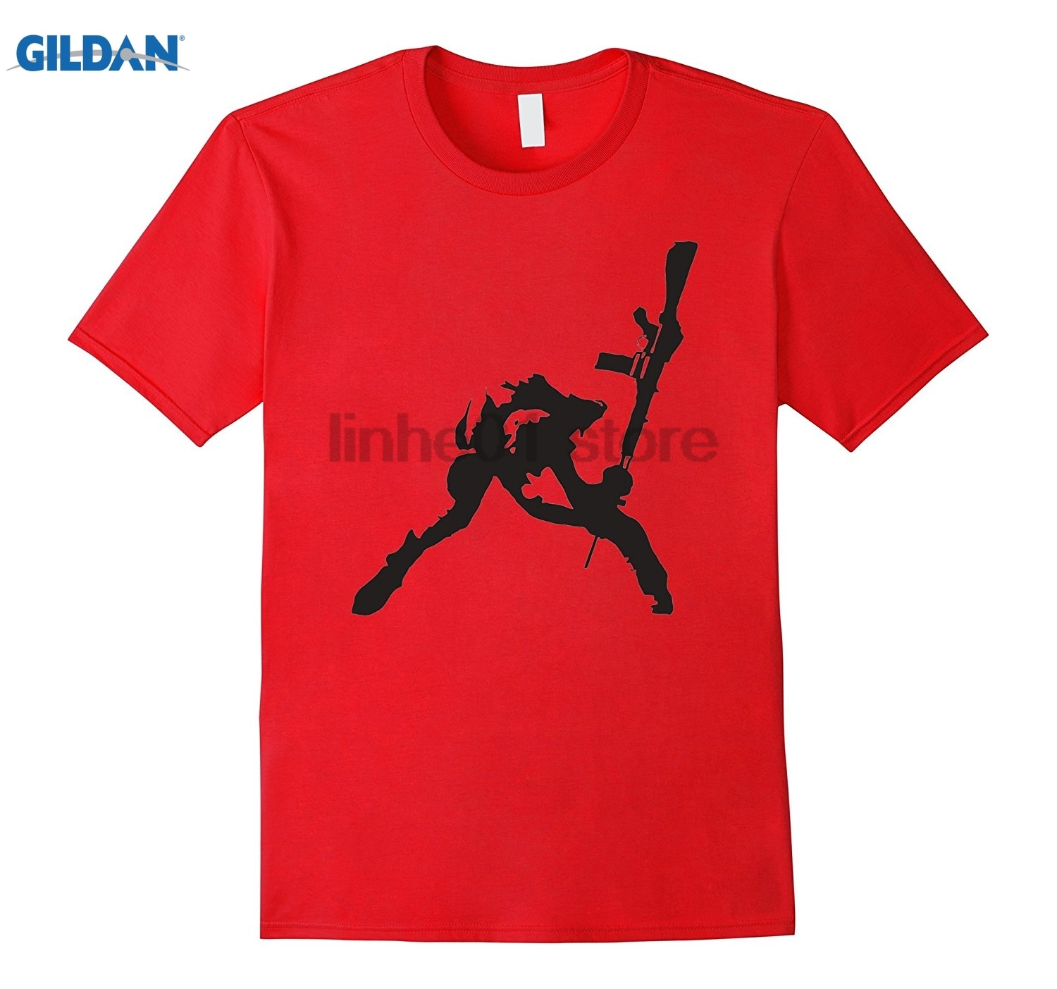 GILDAN Dicky Ticker London Rifle Smash T-shirt Calling Hot Womens T-shirt