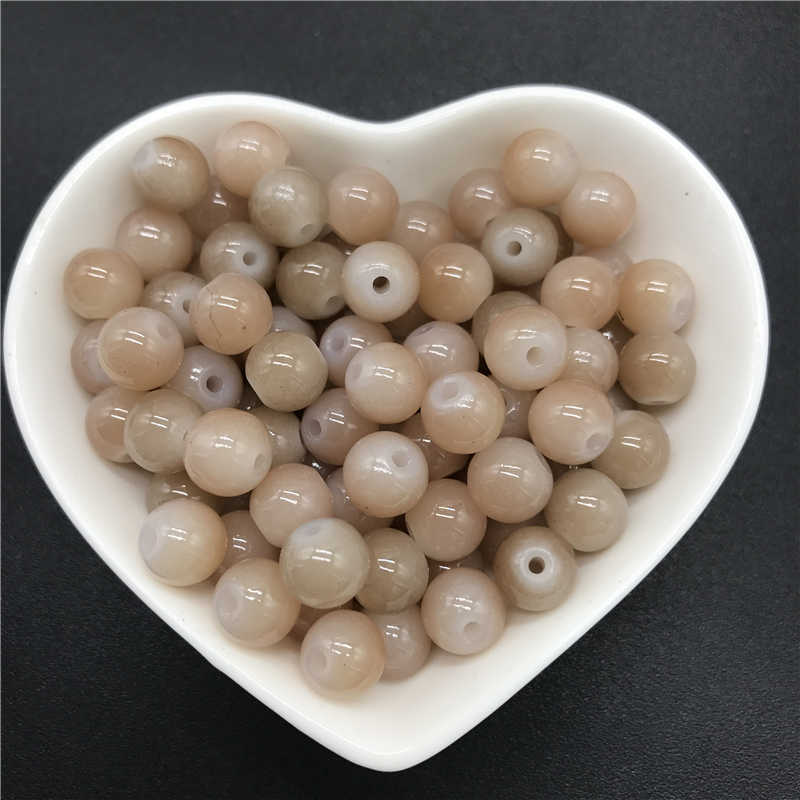 4/6/8/10mm perles de verre rondes en vrac pour la fabrication de bijoux collier bracelet à bricoler soi-même