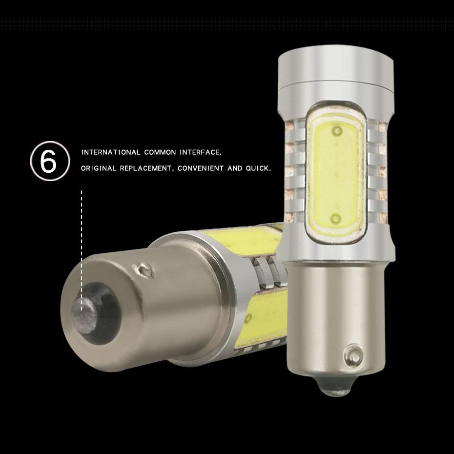 2X 1157 Strobe Bulbs 1156 Ba15S 1157 BAY15D Led COB 12V LED Light Car Turn Brake Strobe Flash Bulb Tail Light Led Lamp (3)