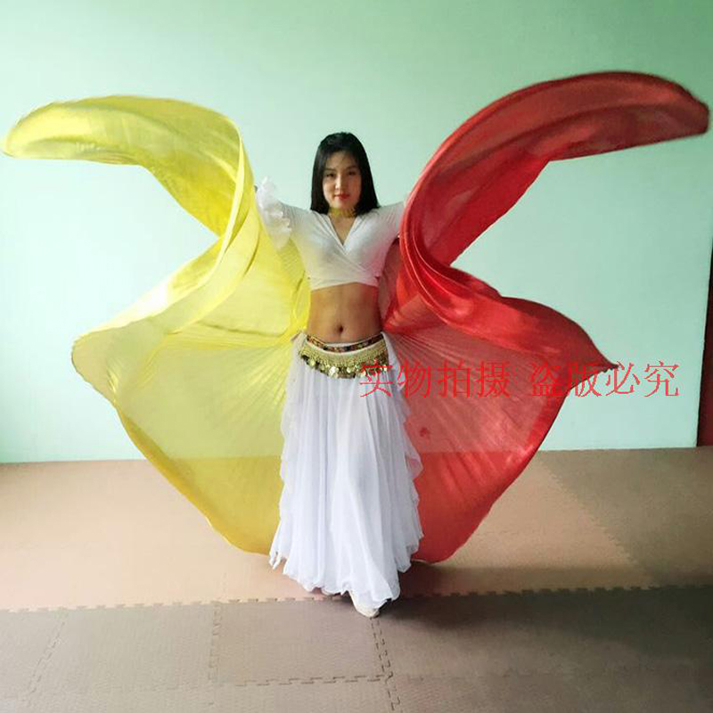New Arrival 2-colors Mixed Oriental Dance Wings For Women Sexy Belly Dancing Isis-Wings Popular Stage Props Wings