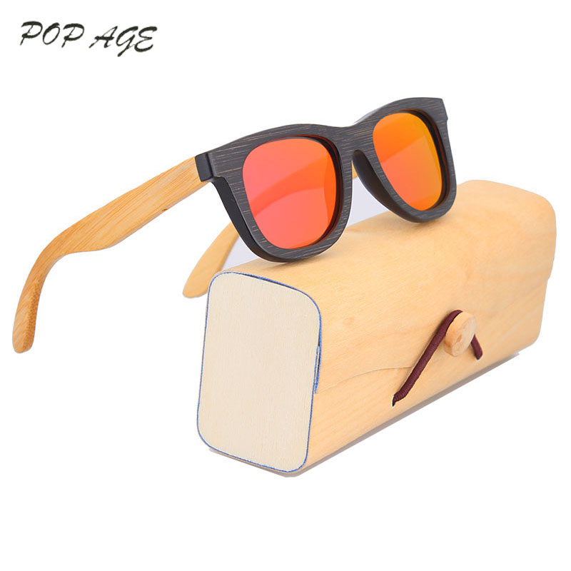 Black Sunglasses Children Polarized Mirrored Kids Sunglasses Brands Oculos  de sol Infantil Wood Glasses Box Eyewear cdad6efb8d