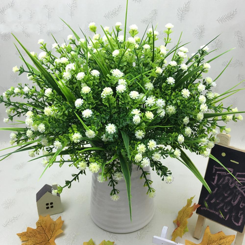 Mazzo Di Fiori Verdi.2 Mazzi Di Fiori Lotto Fai Da Te Fiori Artificiali Bouquet Con