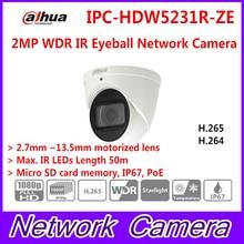Dahua IPC-HDW5231R-ZE 2MP IP Camera WDR IR Eyeball 2.7mm-12mm motorized lens Starlight Dome Network Camera