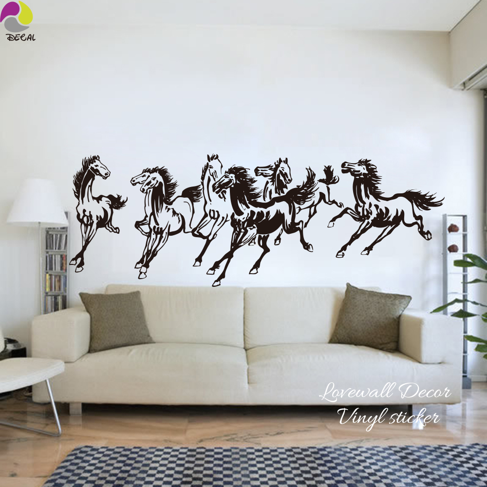 Traditional Chinese Horses Wall Sticker Bedroom Living Room Farm ...