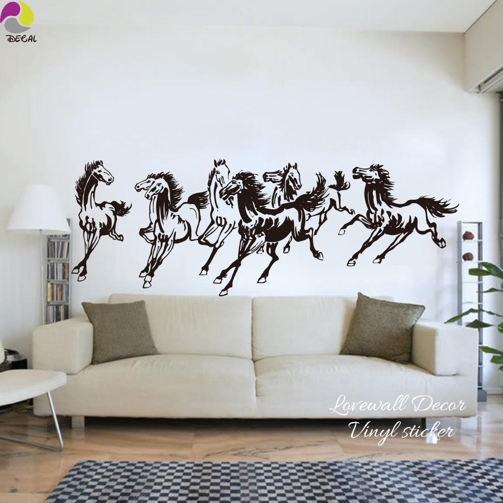 Bezaubernd Wandtattoo Kinderzimmer Galerie Von Traditionelle Chinesische Pferde Wandaufkleber Schlafzimmer Wohnzimmer Nutztiere