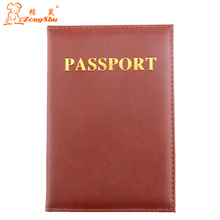 ZS 4 Color Leather ID passport Holders Documents Bag Casual Travel Passport Cover passports case